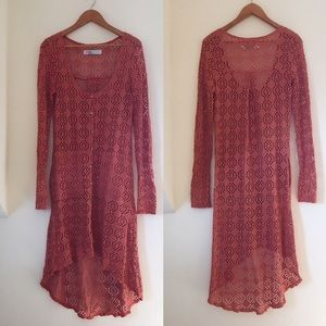 Free People Beach Coverup Maxi Dress / Small